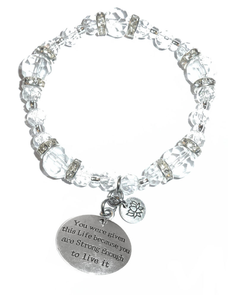 you were given this life crystal charm bracelet