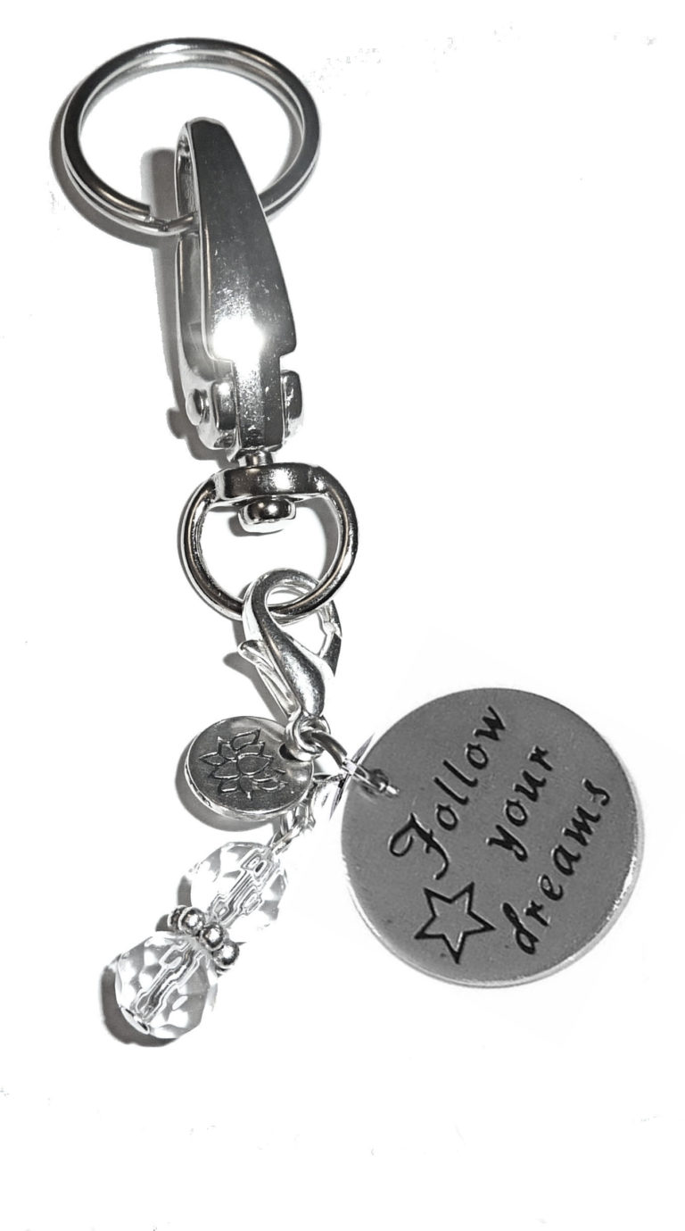 follow your dreams keychain charms