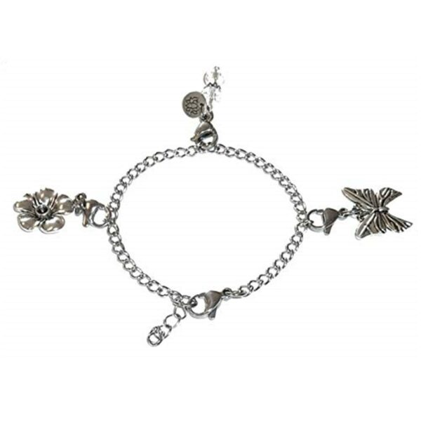 Butterfly & Flower - Custom Charm Bracelet Set