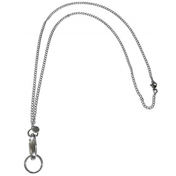 silver lanyard for id badges