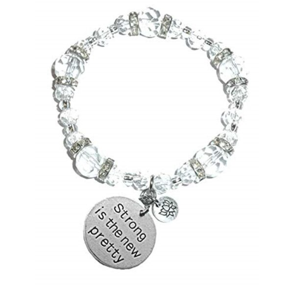 Strong Is The New Pretty Crystal Charm Bracelet
