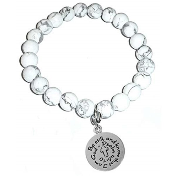 Soothing Howlite Bracelet - Be Still and Know that I am God