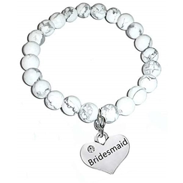 Bridesmaid howlite bracelet
