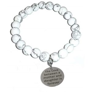 Mother Daugther Howlite Bracelet - the Love between a mother and daughter is forever