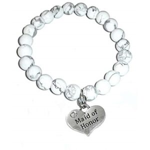Maid of honor howlite bracelet