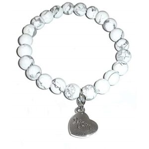Mom Howlite Bracelet - Mother's Day Gift