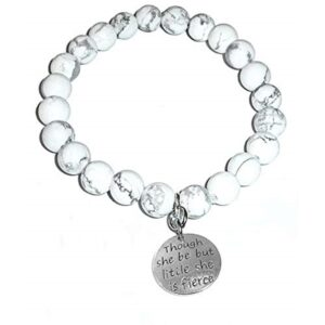 Though She Be Little Howlite Bracelet - Though She Be Little, She Is Fierce